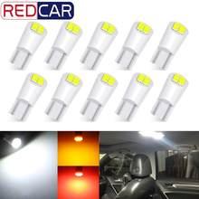 Ampoule Led T10 W5W pour intérieur de voiture, 10 pièces, 168 194, 3030 puces, 4SMD, lumière de coin latéral de voiture, blanc 6000K, 12V