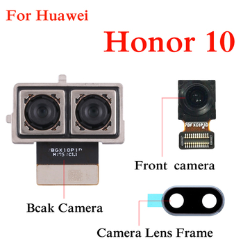 For Huawei honor 10 Back Camera Lens Frame Module Replacement Parts Front camera original rear camera lens for huawei honor 20 pro camera glass lens back camera frame for honor 20 10i 20i camera lens frame