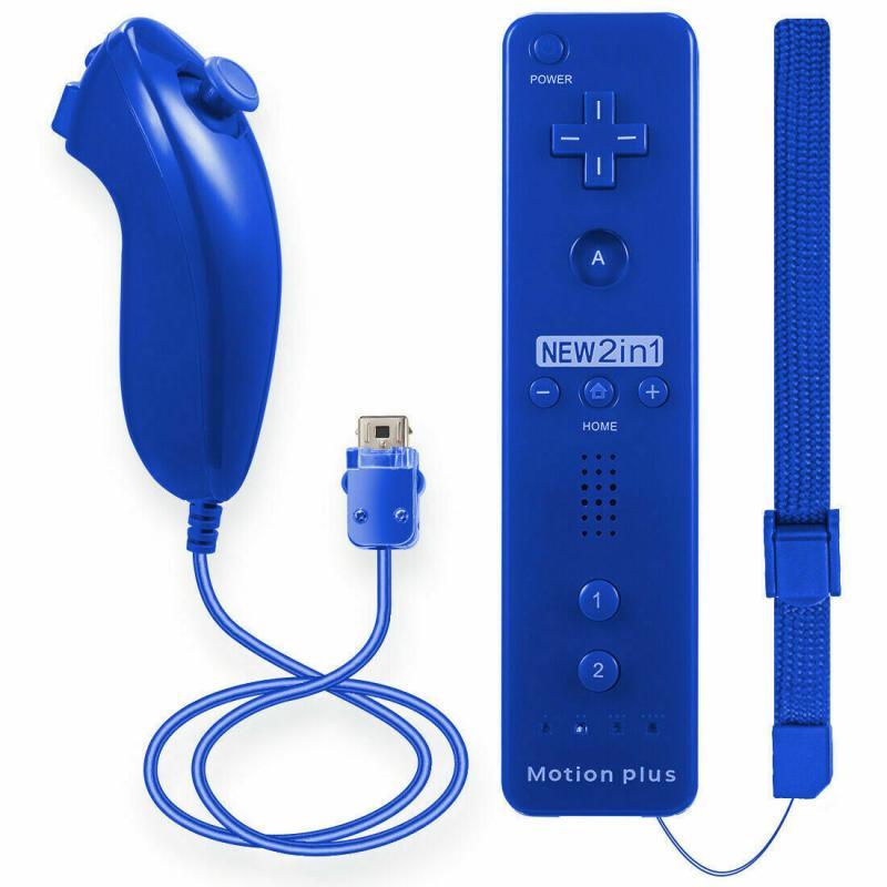 Беспроводной Bluetooth-контроллер 2 в 1, геймпад Nunchuk для игровой консоли Wii, беспроводной динамик без Motion Plus