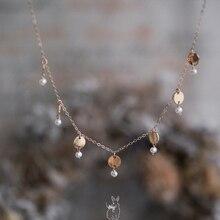 Original gild Ms necklace 2.8mm pearl Temperament Women Necklace Wild Pop Jewellery necklace with Adjustable
