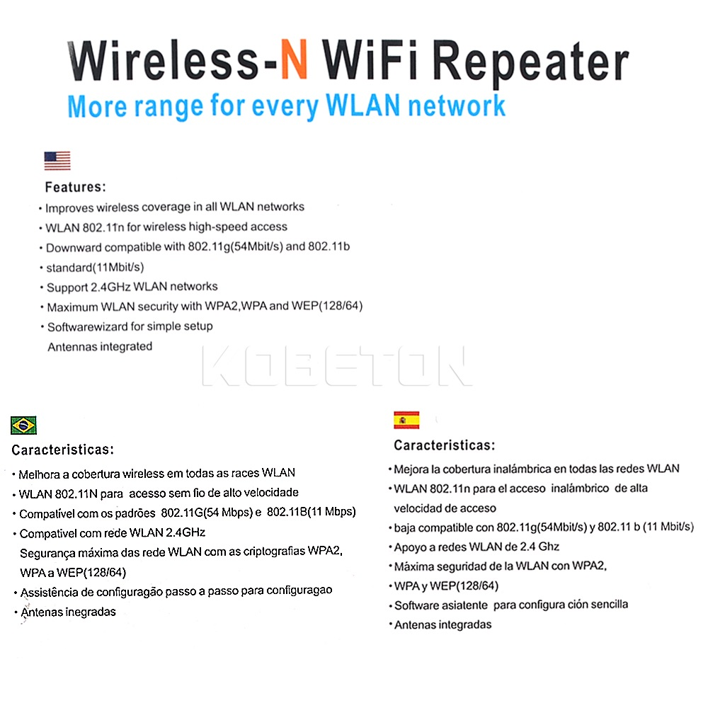 kebidu Wps Router 300Mbps Wireless WiFi Repeater WiFi Router WIFI Signal Boosters Network Amplifier Repeater Extender WIFI Ap 6