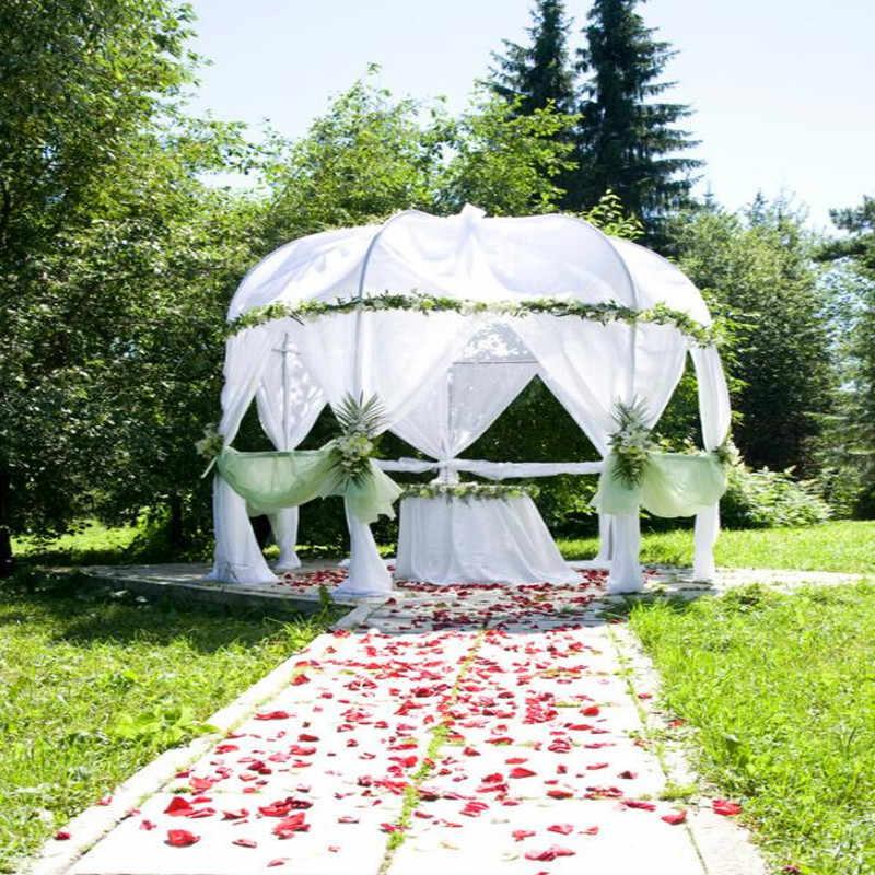 48CM * 5M hilo de nieve blanco para arcos de boda cristal puro tela de tul de organza decoración de fiesta de cumpleaños de boda al aire libre 5Z