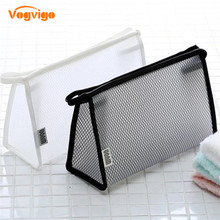 Vogvigo Mesh Cosmetic Bag Travel Makeup Case Women String Make Up Bath Organizer Storage Pouch Toiletry Wash Beaut Kit travel organizer women small mesh breathable admission package wash cosmetic pouch change mala de maquiagem