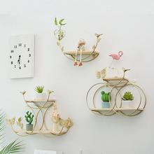 купить Nordic Wooden Bow Racks Metal Wall-Mounted Storage Rack Shelf Living Room Wall DIY Decor Sundries Storage Holders Iron Crafts дешево