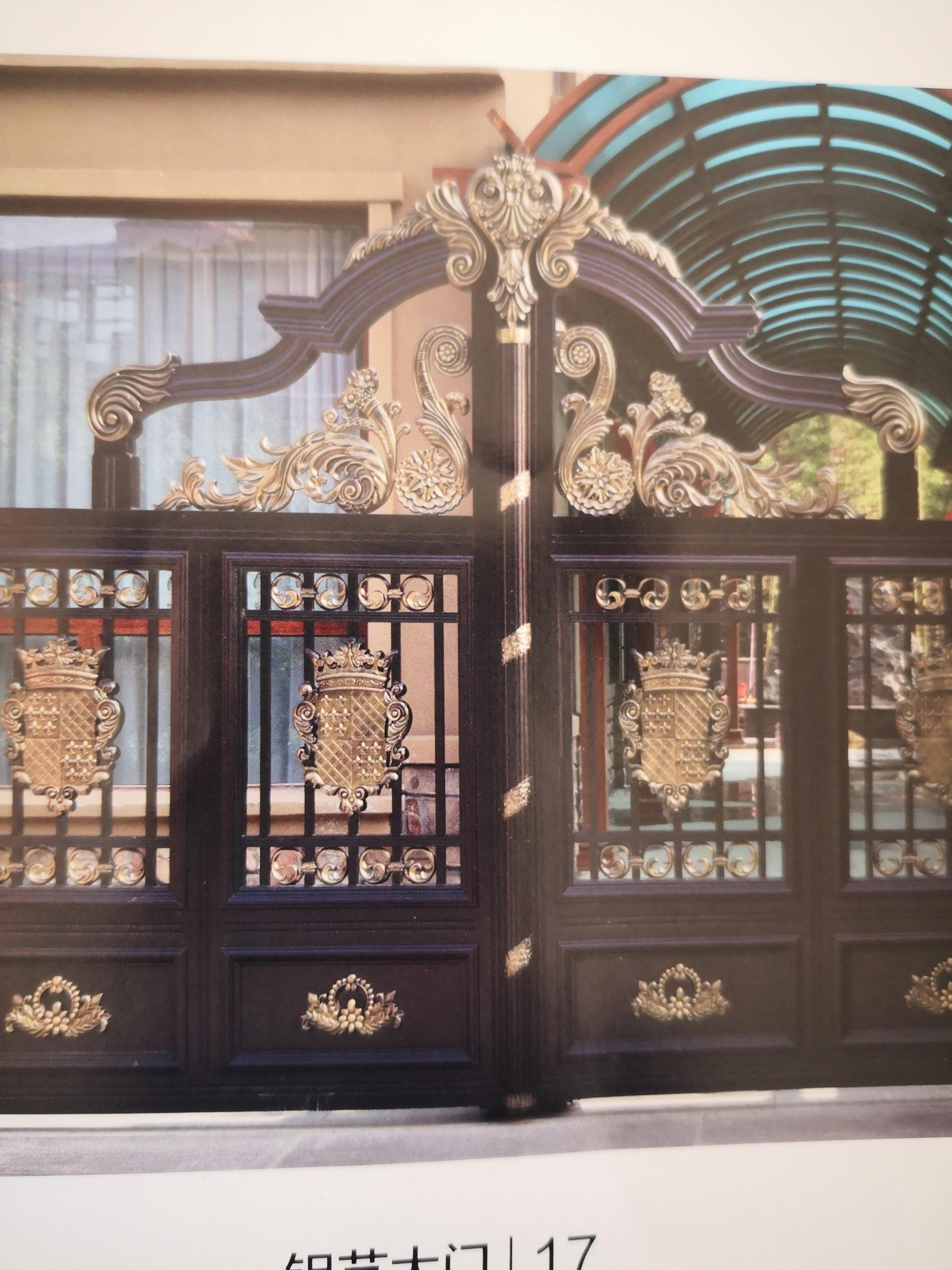 Shanghai Hench  Custom USA Australia Home Use Decorative Aluminium Solid Metal Driveway Gates