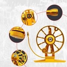купить High Quality Aluminum Body And Spool Ice Fishing Reel Outdoor Fishing Fly Fishing Reel Practical Right Hand Double Brake System онлайн