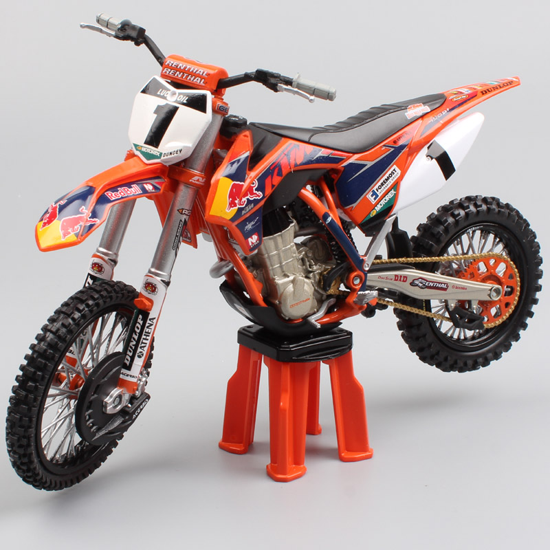 <font><b>1/12</b></font> Scale Automaxx KTM SX-F 45 No.1 Ryan Dungey redbull enduro Motocross dirt bike <font><b>Motorcycle</b></font> red bull Diecast <font><b>model</b></font> toy of kid image