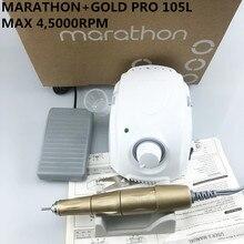 Новое поступление прочные чемпиона марафона-3 сильный 210 PRO 105L ручка 45000 об/мин Электрический Фрезер для ногтей, сверлильный Форте 210 ногтей, для маникюра, Новинка