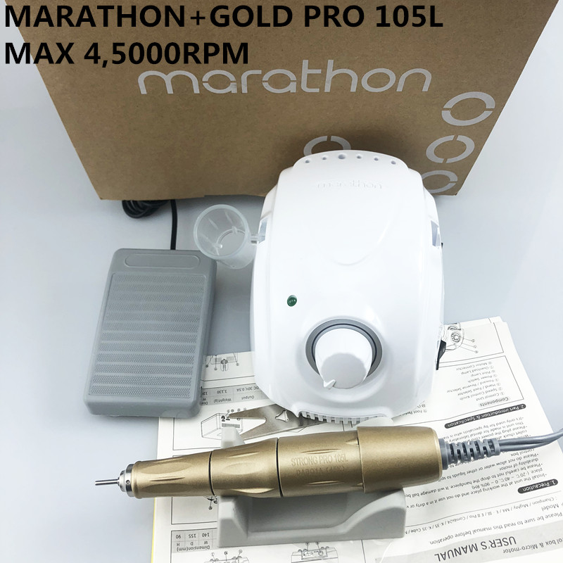2019 New Arrival <font><b>STRONG</b></font> MARATHON champion-3 <font><b>Strong</b></font> 210 PRO <font><b>105L</b></font> Handle 45000 rpm Electric Nail Drill FORTE 210 Nail art Tool new image