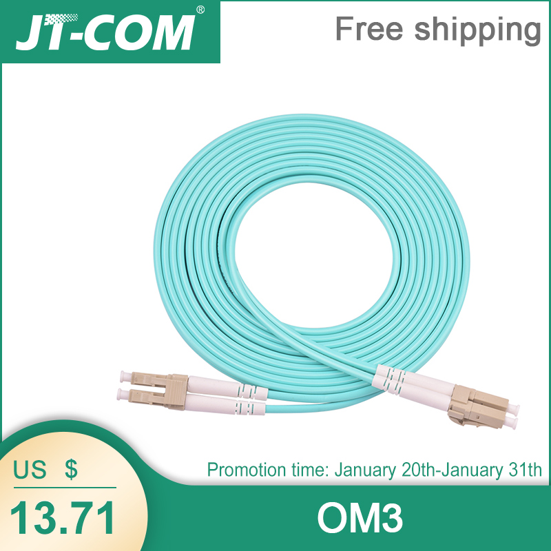 LC a LC OM3 10G 50//125 Cable de Conexi/ón de Fibra /óptica D/úplex multimodo 17m 2.0mm