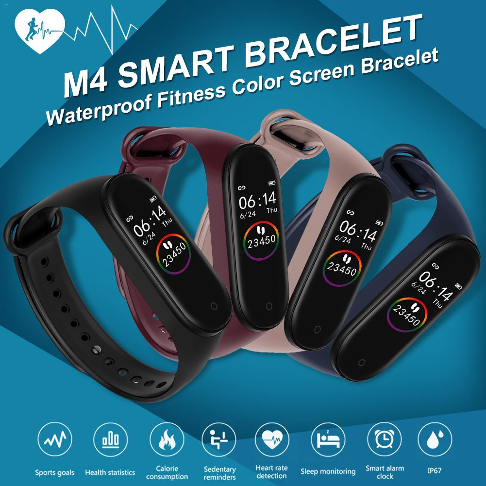 M4 Smart Band 4 Fitness Tracker Watch Sport Bracelet Heart Rate Blood Pressure Smartband Monitor Health Wristband Pedometer