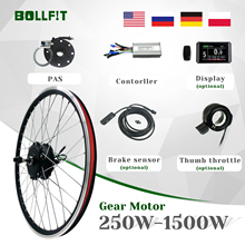 Conversion-Kit Wheel Geared-Hub-Motor Ebike Electric-Bicycle 48v 750w Controller 36v 250w