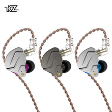KZ ZSN Pro 1BA+1DD Hybrid technology HIFI Bass Earbuds Metal In Ear Earphones Bluetooth Headphone Sport Noise Cancelling Headset