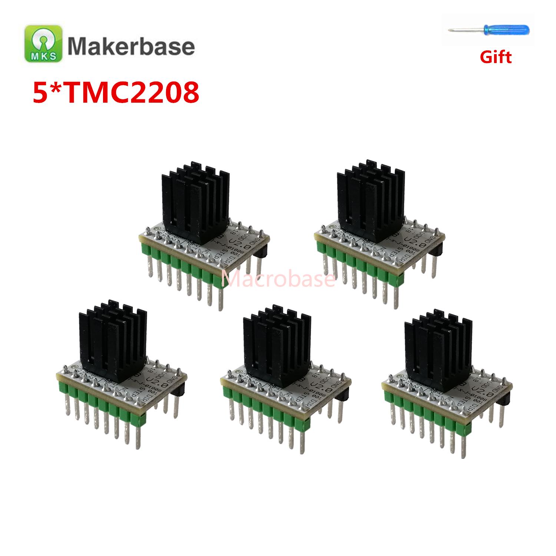 Bastone passo 5pcs MKS TMC2208 v2.0 stampante 3d stepper motor driver del controller stepmotor driver TMC 2208 motore 3d stampante roba