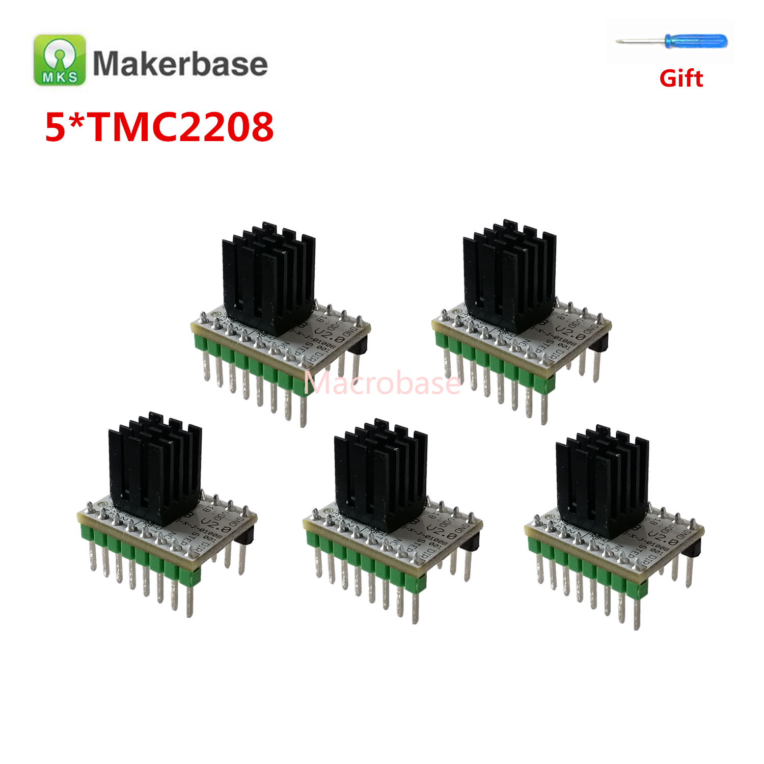 Step Stick 5pcs MKS TMC2208 V2.0 3d Printer Stepper Motor Driver Controller Stepmotor Driver TMC 2208 Engine 3d Printer Stuff