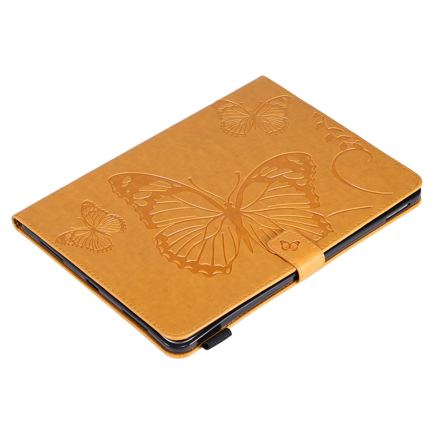 4 Black Butterfly Tablet Fundas For iPad Pro 12 9 Case 2020 2018 Folding Folio Embossed Cover For