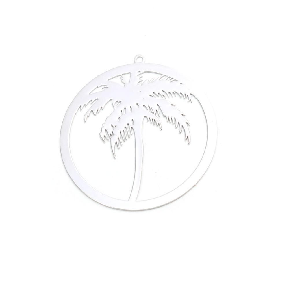 DoreenBeads модные медные Подвески серебряного цвета, круглые, Кокосовая пальма, дерево, фламинго, аксессуары для рукоделия, 10 шт.