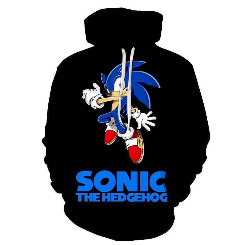 New Arrival Anime Sonic The Hedgehog 3D Printed Hooded Sweatshirts Children Fashion Casual Pullover Funny Kids Streetwear Hoodie