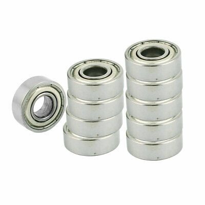10Pcs 15 x 5mm 696Z Silver Tone Shield Deep Groove Ball Bearing image