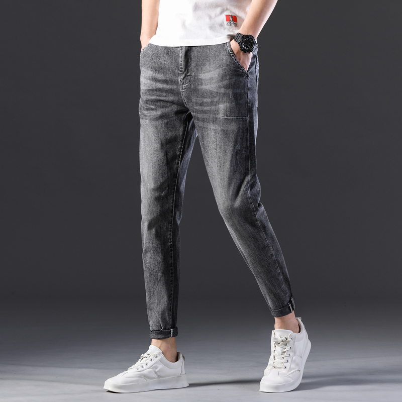 KSTUN Stretch Jeans Men Skinny Gray 2020 New Arrivals Man Long Trousers Slim Fit Cowboys Mens Jeans Fashion Designer Tapered 13