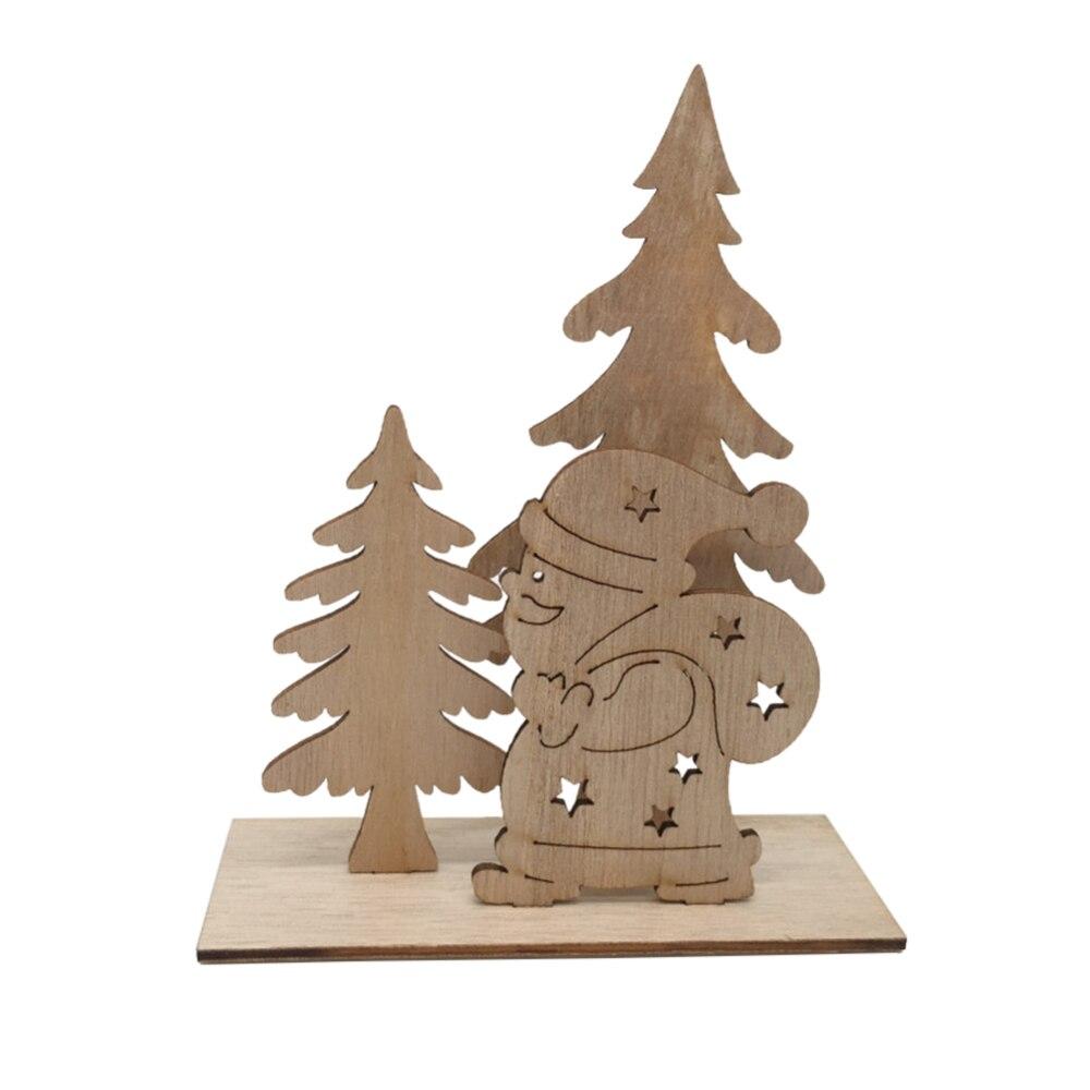 Adornos de árbol de Navidad de alce de madera de Año Nuevo manualidades Decoración de mesa decoración de Hotel Celebración de Navidad decoración para el hogar - 3