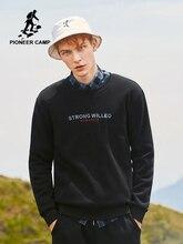 Pioneer O-Neck หนาขนแกะผู้ชายขายร้อนยี่ห้อเสื้อผ้าฤดูใบไม้ร่วงฤดูหนาว Camp