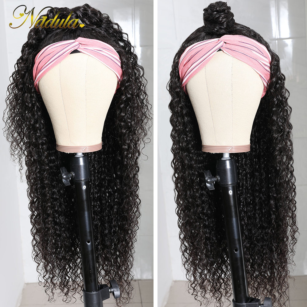 Nadula Curly Hair Headband Wigs  Curly Hair Wig  Hair Natural Wig for Women Glueless Easy to Style & Wear Wig 5