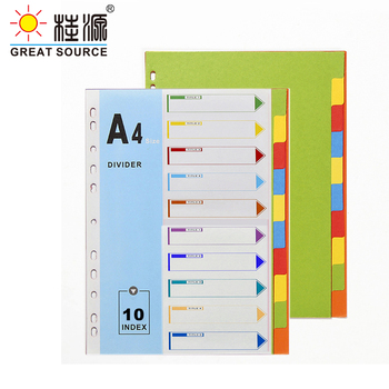 A4 File Folder Divider Printing Paper Card Index 10 Color Divers With Index Cover (3 Sets) comix ix894 paper index card a4 11 holes for documents file display free shipping