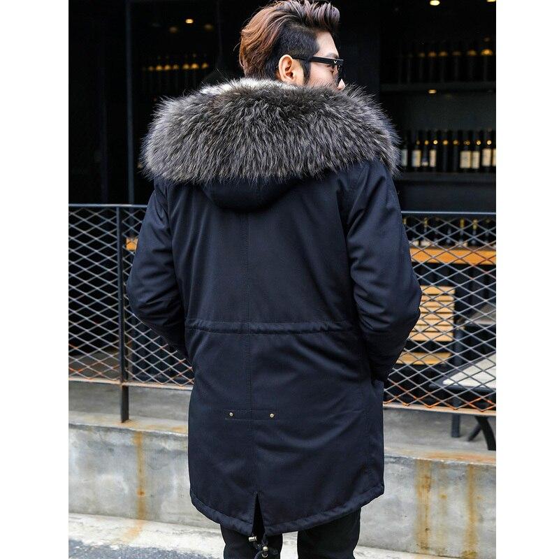 Winter Jacket Real Wolf Fur Coat Men Parka Homme Racoon Fur Collar Luxury Parkas Plus Size Manteau Homme Hiver KJ1155