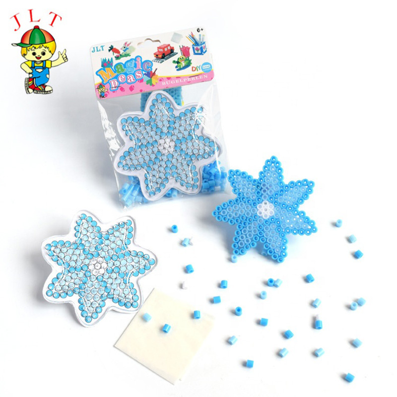 DIY Snowflake Perler Beads 5mm Hama Beads  Puzzle Education Toy  Crafts For Kids  Kids Diy Educational