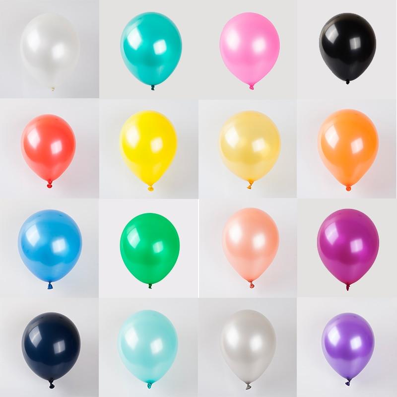 Balões de látex de pérola em 10/20 peças, balões coloridos de ouro rosa, para aniversário, festa de casamento, decoração de brinquedos infantis balão