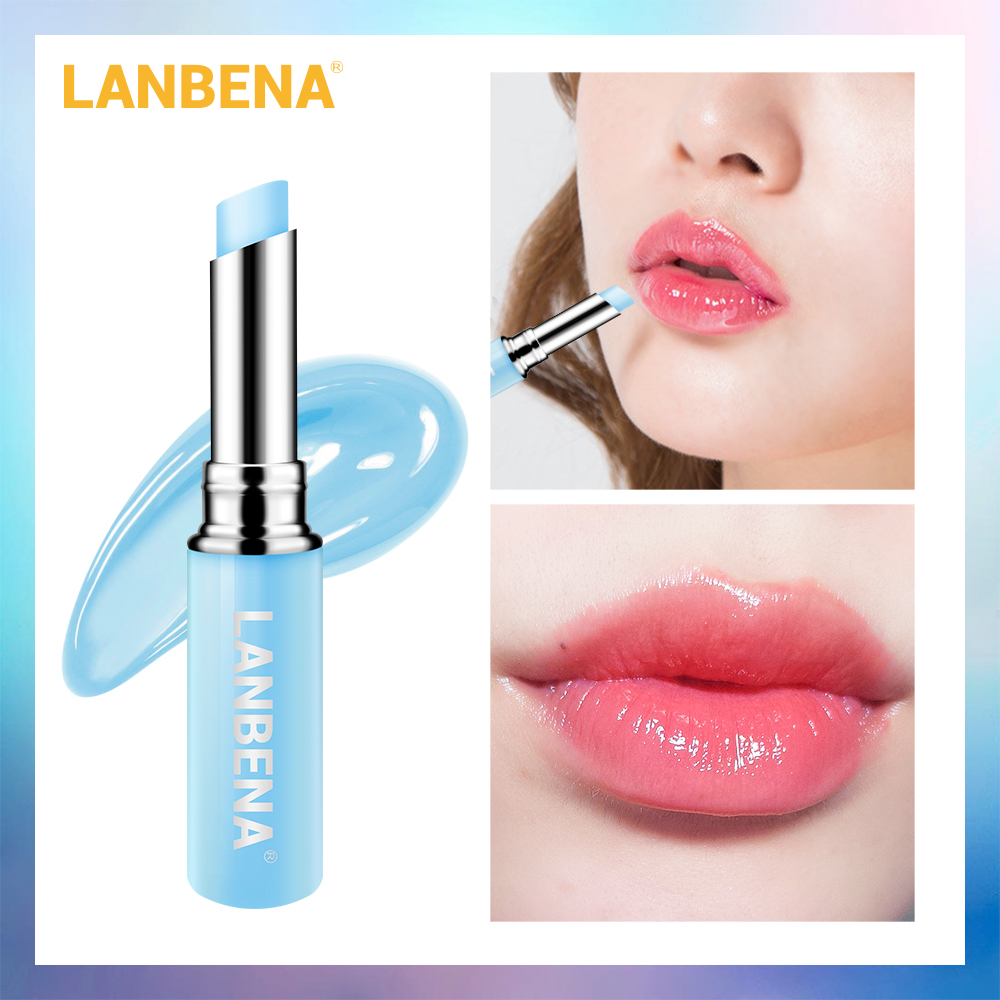 LANBENA Hyaluronic Acid Lip Balm Lip Plumper Moisturizing Reduce Fine Lines Relieve Dryness Long-Lasting Protection Lip Care