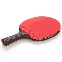Raqueta de Ping Pong de 6 estrellas, profesional, de goma, Nano carbono, hoja de murciélago, adhesivo de tóner, entrenamiento de Ping Pong