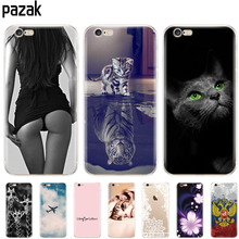 купить soft silicone Case For iphone 5s 5 s se 6 6s CaseCover Shell Cover For Apple iPhone 6s plus Bag Funda coque etui bumper paiting по цене 106.82 рублей