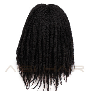 Image 3 - AISI HAIR Dreadlock Marley Braids Ombre Braiding Hair Wig Synthetic Afor Kinky Curly Wig Black Ombre Brown for Women/Men