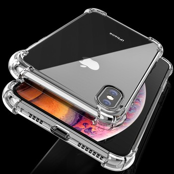 Clear Shockproof Silicone Case For iPhone 11 Pro Max XR XS Max 11 6 6S 7 8 Plus SE 2020 11 Case 360 Silicone Case Protect Cover image