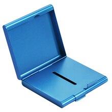 Алюминиевый чехол для хранения сигарет для 20 сигарет держатель двухсторонний откидной открытый карман-чехол для хранения сигарет контейнер подарки