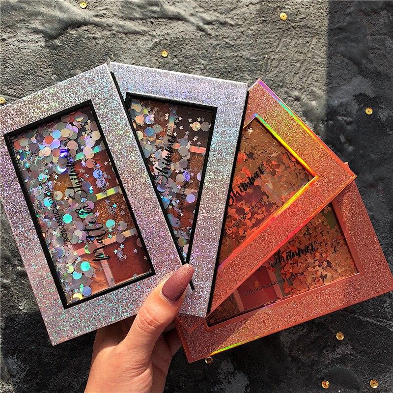 marca cosmeticos 8 cores paleta de sombra brilho fosco metalico paleta de maquiagem de diamante pigmentado