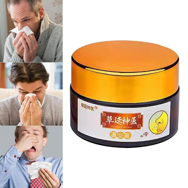 20g Allergic Rhinitis Cream Nasal Congestion Runny Nose Sneezing Plaster Nasal Problem Protection Cream Effective Treatment