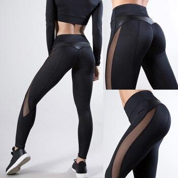 2020 Women Leggings Sexy Mesh Pants Push Up Fitness Gym Leggins Running Leggins Seamless Workout Pants Femme High Waist Mujer 1