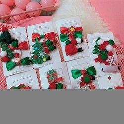 2020 niñas broches para el cabello bonitos Navidad diseño de Papá Noel horquilla Set niños horquilla princesa accesorios para el cabello