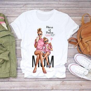 Women Cartoon Super Mom Life Momlife Summer Print Lady T-shirts Top T Shirt Ladies Womens Graphic Female Tee T-Shirt 15