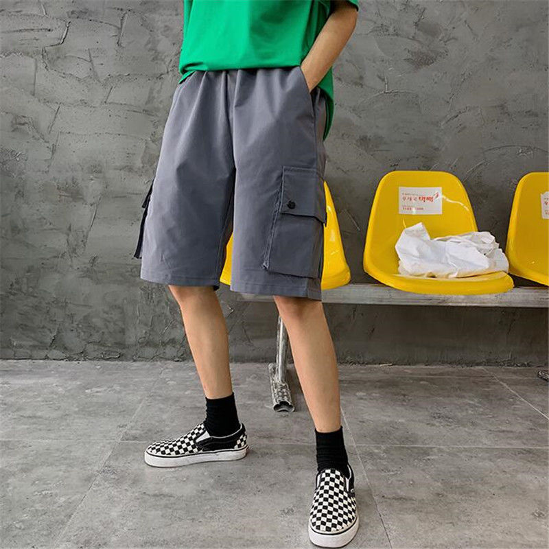 NiceMix 2020 Workwear Shorts Women Female Summer High Waist Loose Casual Wide Leg Shorts Ins Style Straight Five Points Shorts