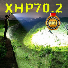 Drop shipping 85000 lumens Lamp xhp70.2 most powerful flashlight usb Zoom led torch xhp70.2 xhp50 26650 battery Camping, Outdoor