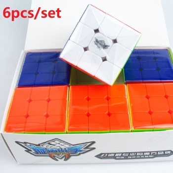 Cyclone Boys 6pcs set 56mm 3x3x3  Cubo Magico packing cube Speed Cube Stickerless Puzzles Toys for s Brain Teaser carbon fiber sticker speed 3x3x3 magic magico rubik s cube fidget cube magico educational brain teaser toys for children adult