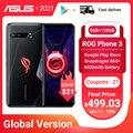 Глобальная версия ASUS ROG Phone 3 5G игровой телефон Snapdragon 865 плюс 8RAM 128ROM 6000 мА/ч, 144 Гц 2SIM карта NFC ROG3 смартфон