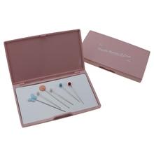 Розовый шарик игольчатый ящик для хранения Магнитная Стрелка Держатель Коробка полезные DIY Инструменты всасывания иглы коробки для хранения