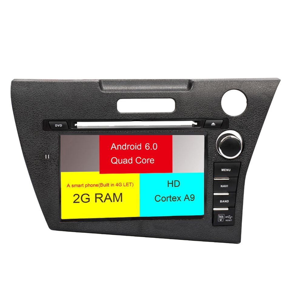 For <font><b>Honda</b></font> <font><b>CRZ</b></font> dvd <font><b>gps</b></font> Car Radio car multimidia autoradio 2016 - 2019 support 4G Bluetooth Auto Radio parktronic 2 Din navigation image