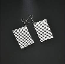 Korean fashion wild square piece earrings female earrings exaggerated ear jewelry