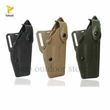 TOtrait Safariland cinturón funda para pistola Glock cintura funda para Glock 17 19 22 23 31 32 funda de pistola de Airsoft cartuchera de mano derecha